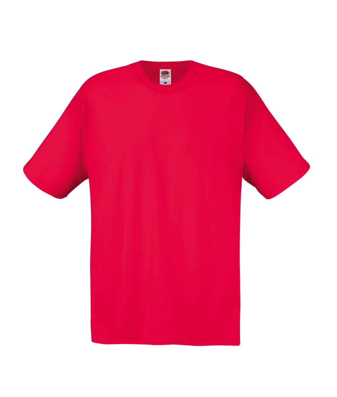 Мужская Футболка Лёгкая Fruit of the loom Красный 61-082-40 S