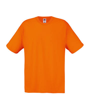 Мужская Футболка Лёгкая Fruit of the loom Оранжевый 61-082-44 S, фото 2