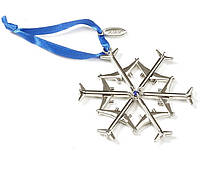 Boeing Jet Snowflake Waterford Nickel-Plated Ornament