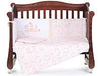"""Комплект детского постельного белья в кроватку """"Pin pin Pink""""  Верес™"""
