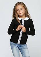 Трикотажная кофта для девочки. 140 см. G-17545W_черный, фото 1