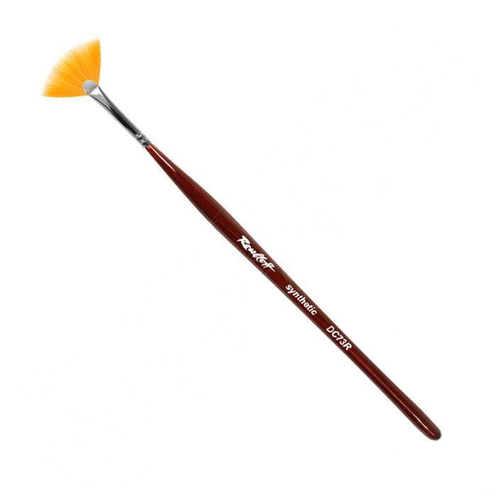 Кисточка-веер для ногтей для нанесения блёсток и градиента