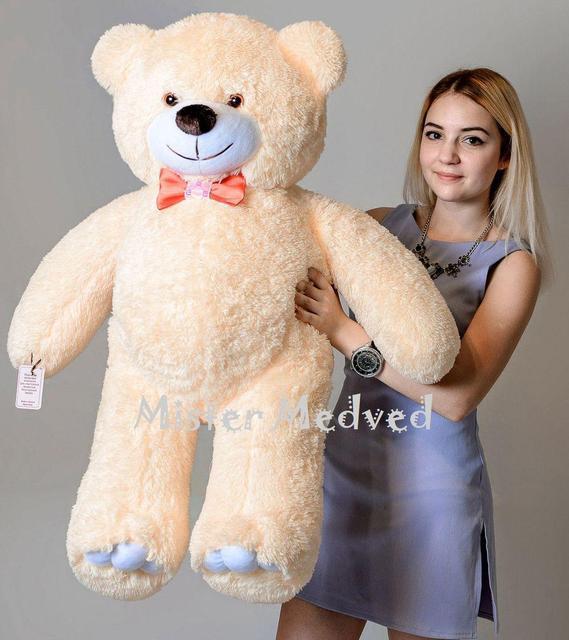 Плюшевий ведмедик Mister Medved Кремовий 110 см