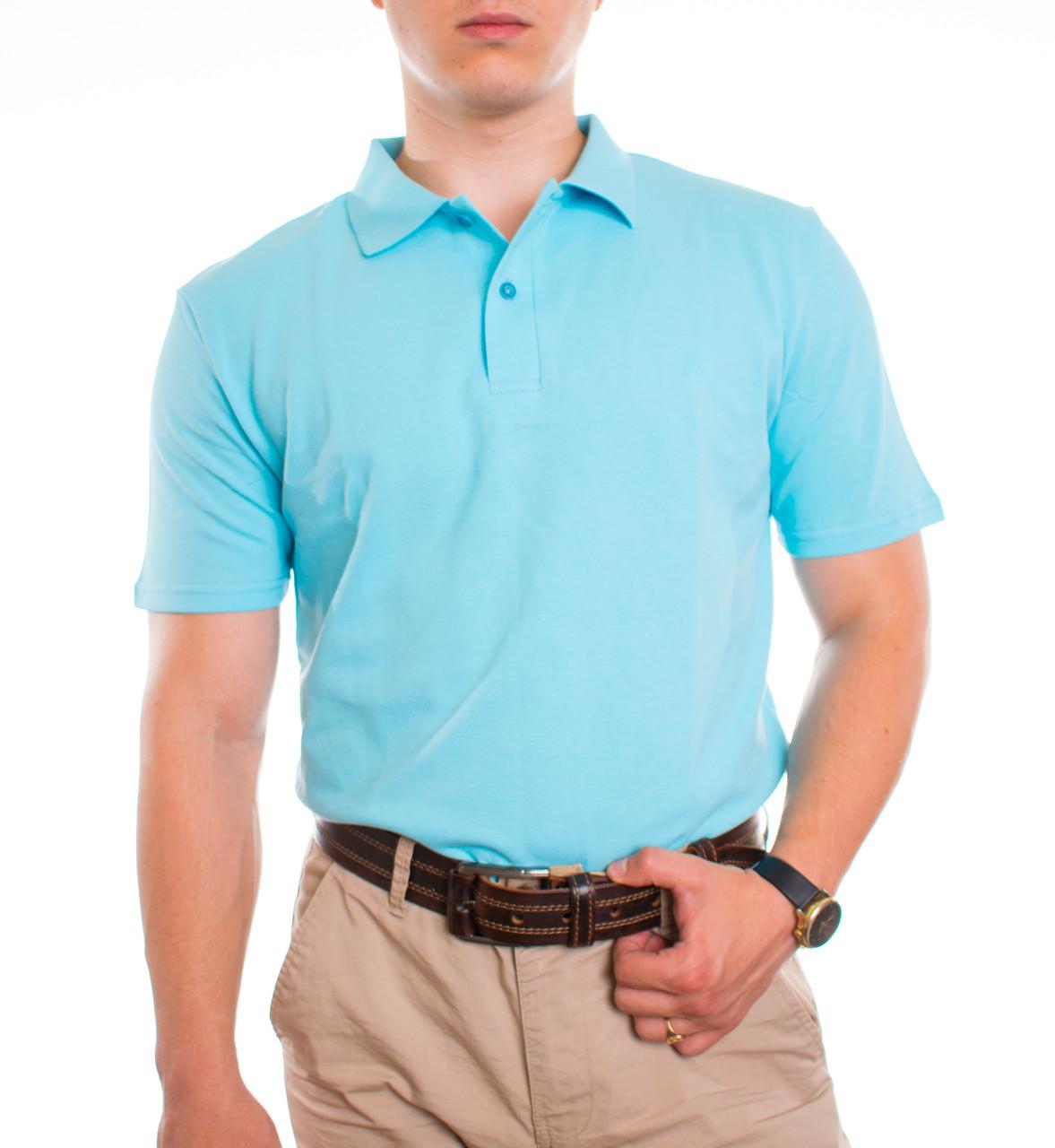 Bono Мужская футболка Поло голубой 400115