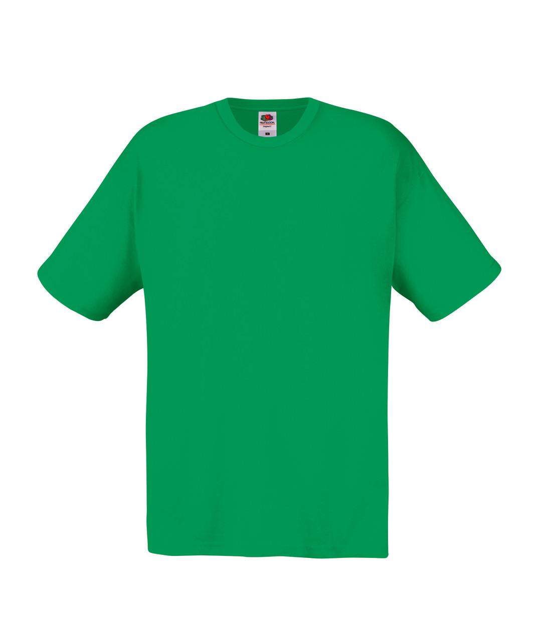 Мужская Футболка Лёгкая Fruit of the loom Ярко-Зелёный 61-082-47 Xxl