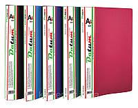 Папка с  40 файлами  A4 D1840-03 бордовая