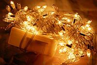 Праздничное освещение дома, магазина, офиса, электрическая гирлянда, 200 led-диодов, белый свет, контроллер