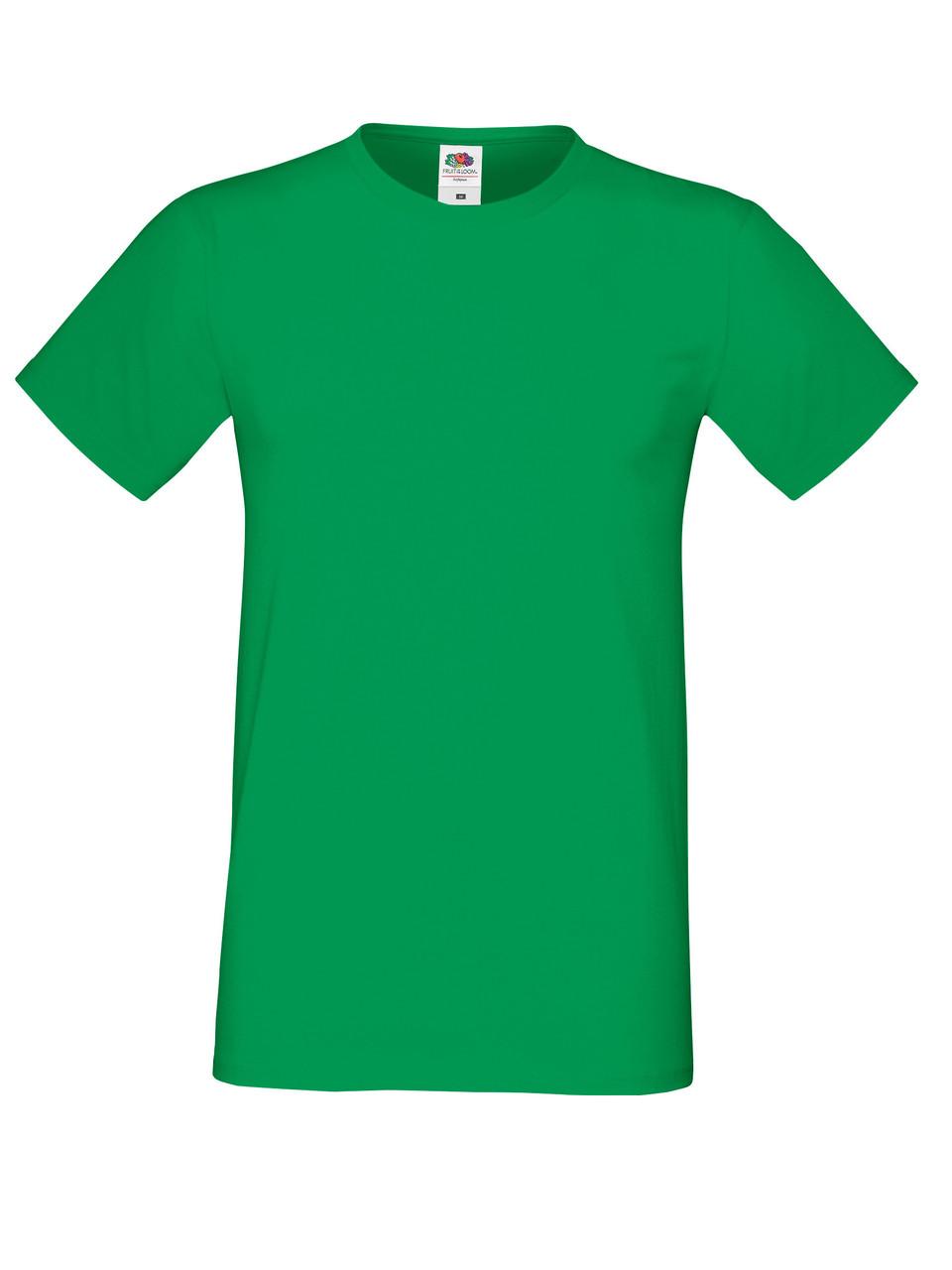 Мужская Футболка Мягкая Fruit of the loom Ярко-Зелёный 61-412-47 M