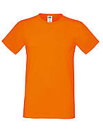 Мужская Футболка Мягкая Fruit of the loom Оранжевый L, фото 1