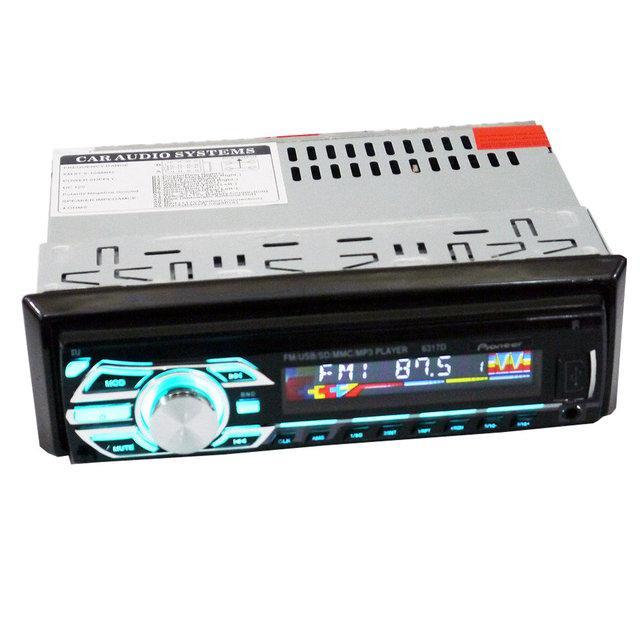 Автомагнитола магнитола 6317D USB Съемная панель Евро разъем  h