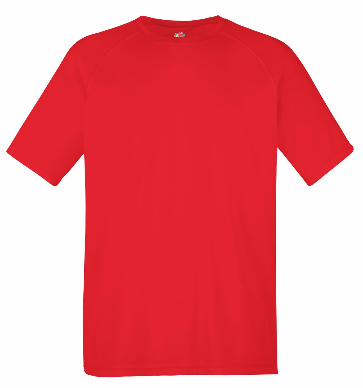 Мужская Спортивная Футболка Fruit of the loom Красный 61-390-40 M