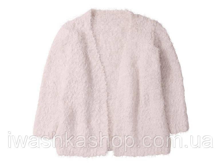 Розовый кардиган - травка для девочки 4 - 6 лет, р. 110 - 116 Lupilu