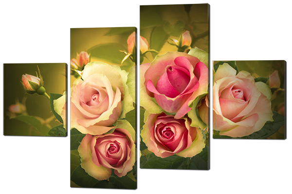Модульная картина Букет роз
