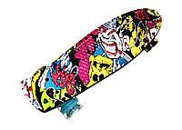 Пенни борд Print Graffiti! Колеса мягкие! Скейт, Penny Board., фото 1
