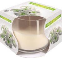 Ароматическая свеча в стекле BISPOL - Белые цветы №SN71S-179
