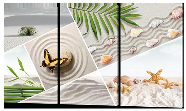 Модульная картина Ракушки на песке