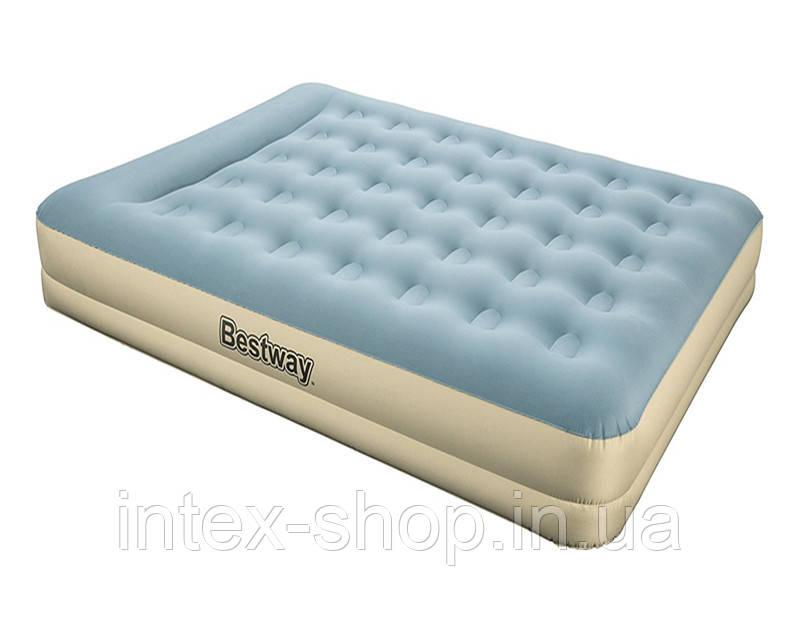 69003 BW, BestWay, Надувная кровать Refined Fortech, 203х152х33см, встроенный электронасос