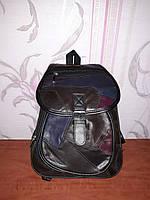 Стильный рюкзак из кусочков кожи с кожзамом, фото 1