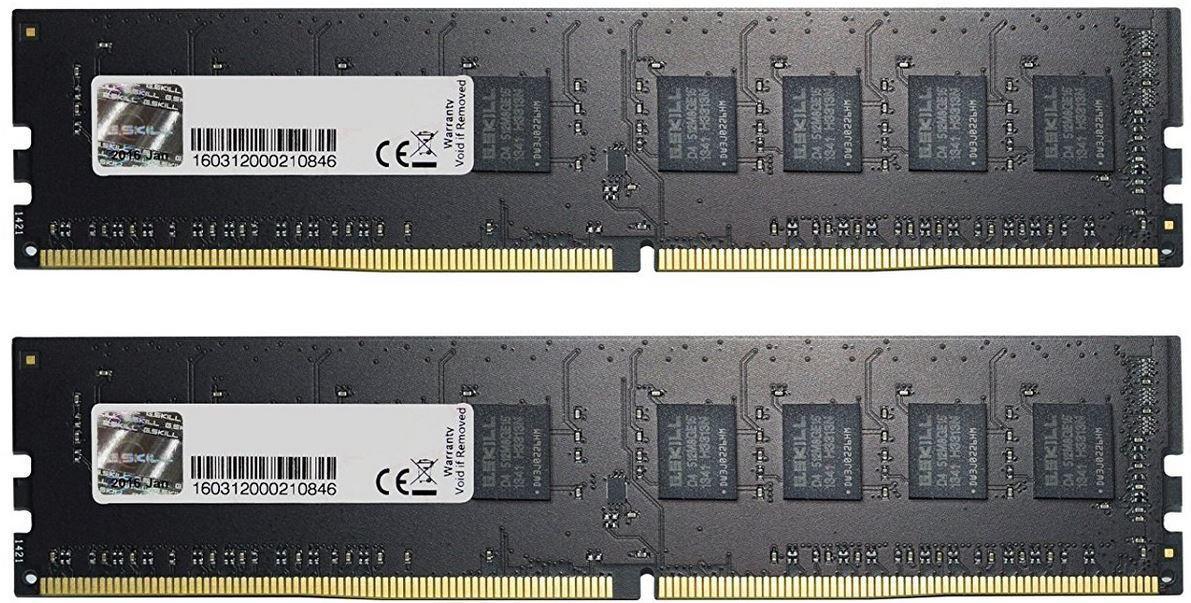 "Оперативная память G.Skill DDR4 16GB(8GBx2) 2400MHz DIMM (F4-2400C15D-16GNS) ""Over-Stock"" Б/У"