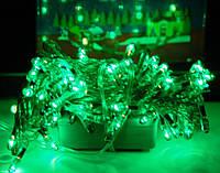 Зеленая праздничная гирлянда на 200 лампочек, электрическая, ламповая, динамический/статический режимы работы