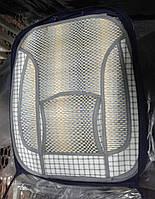 Накидка сидения бамбуковая FM-A07058 с подголовником, соломка+ ткань по краю (2шт)