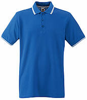 Мужское Поло Ярко-синее с Белыми Полосками Fruit of the loom 63-032-Kb L, фото 1