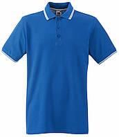 Мужское Поло Ярко-синее с Белыми Полосками Fruit of the loom 63-032-KbXxl, фото 1