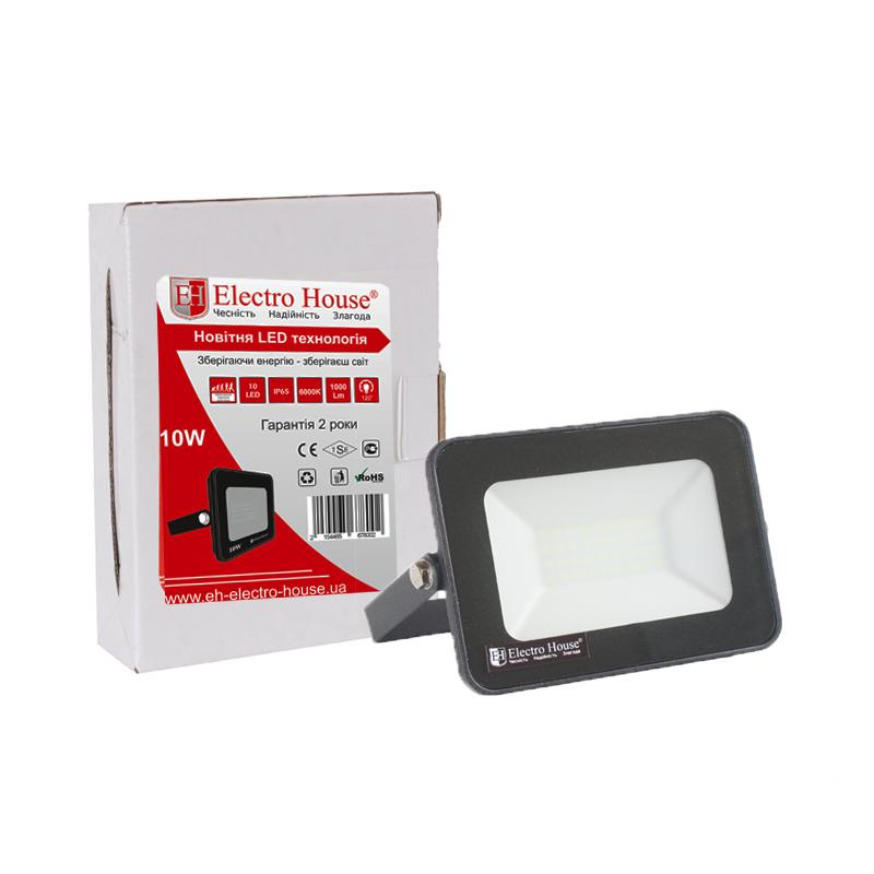 ElectroHouse LED прожектор 10W IP65