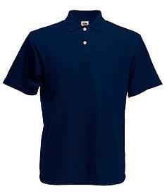 Мужское Поло Глубоко тёмно-синее Классическое Fruit of the loom 63-214-Az S