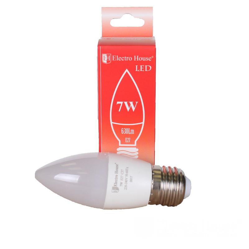 "ElectroHouse LED лампа ""свеча"" Е27 7W"