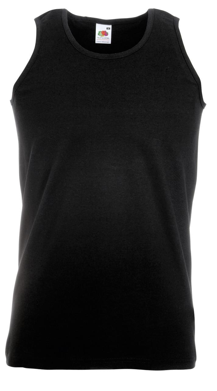 Мужская Классическая Майка Fruit of the loom Чёрный Размер XXL Athletic Vest 61-098-36 Xxl