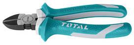 Кусачки с диагональным разрезом TOTAL THT230706 L=180мм.