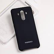 Cиликоновый чехол на Huawei Mate 10 pro Soft-touch - Black
