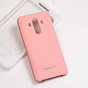 Cиликоновый чехол на Huawei Mate 10 pro Soft-touch - Pink
