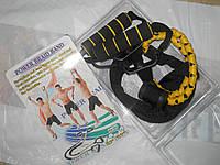 Эспандер для фитнеса плетеная резинка три ленты 165см с крепежем в дверь