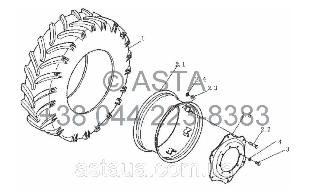 Передние колёса на YTO-X904