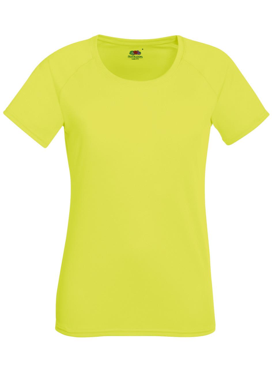 Женская Спортивная Ярко-жёлтая Футболка Fruit of the loom 61-392-XK XS