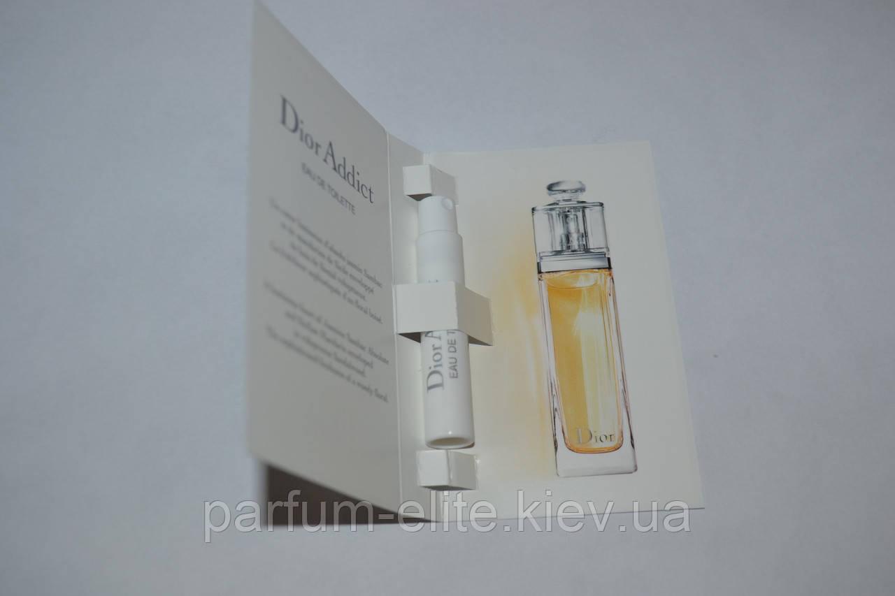 Пробник женской туалетной воды Christian Dior Addict Eau de Toilette 1ml по  доступным цена в Киеве и