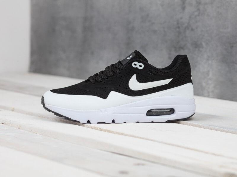 good quality separation shoes on feet images of Женские кроссовки Nike Air Max 1 Ultra Moire Black White