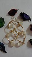 "Серьги ""Spiral Glass Beads"""