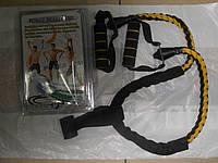 Эспандер для фитнеса плетеная резинка 114см с крепежем в дверь