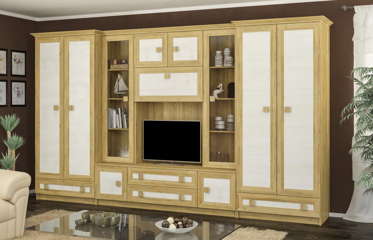 Тристан стенка Мебель-Сервис 4500х2081х527 мм