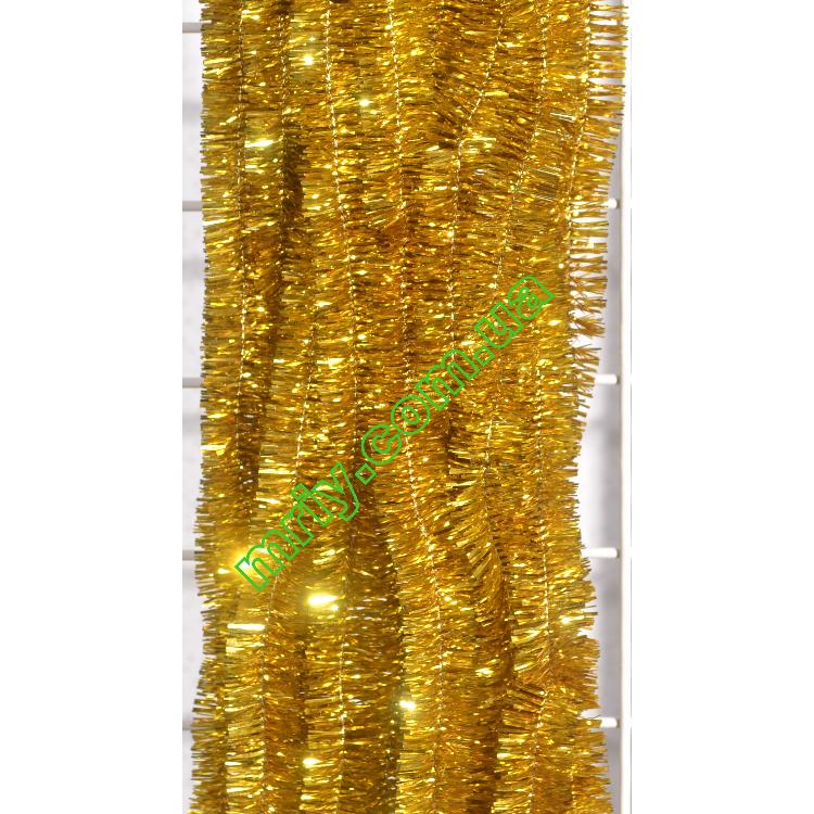 Новогодняя мишура Д2 набив жовта