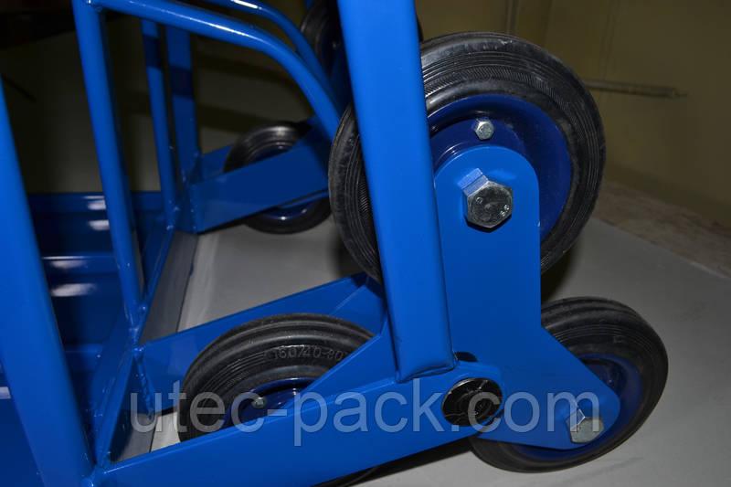 Тележка двухколесная с колесами для лестниц, фото 3