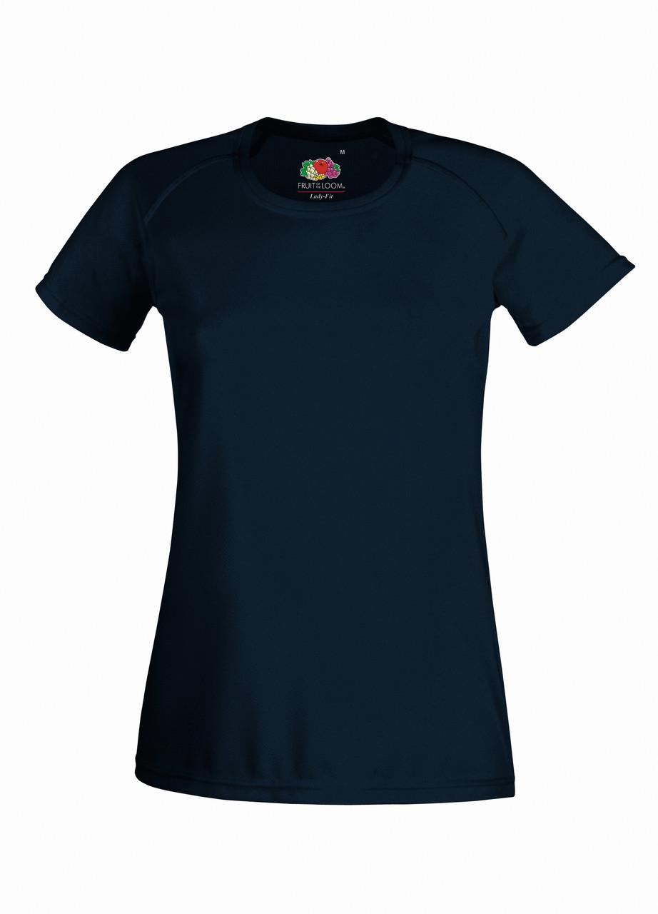 Женская Спортивная Глубоко тёмно-синяя Футболка Fruit of the loom 61-392-AZ XXL