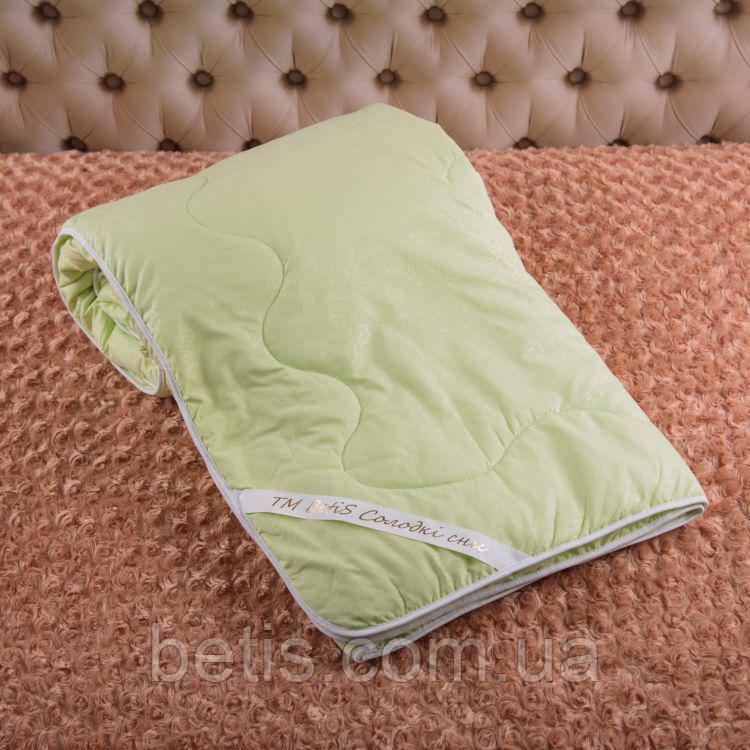 """Одеяло """"Комфорт 140*210"""" Демисезонное Молочный Голубой Салатовый"""