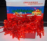 Яркая праздничная гирлянда красного цвета, 200 лампочек, длина 6 метров, разные режимы освещения, питание 220в, фото 1