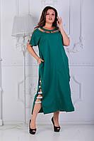 Легкое женское батальное платье