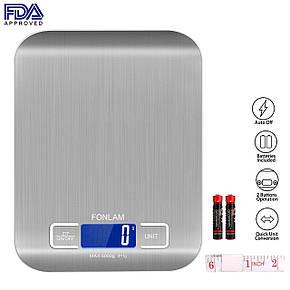 Кухонные цифровые весы FONLAM с металлическим корпусом, фото 2