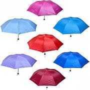 Зонтик складной механический цветной/серебряный
